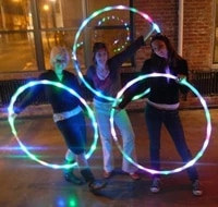 sport hoop loose weight materiel sport fitness hoop equipment yoga circle 90cm 7color aro led flashing sport body building ring