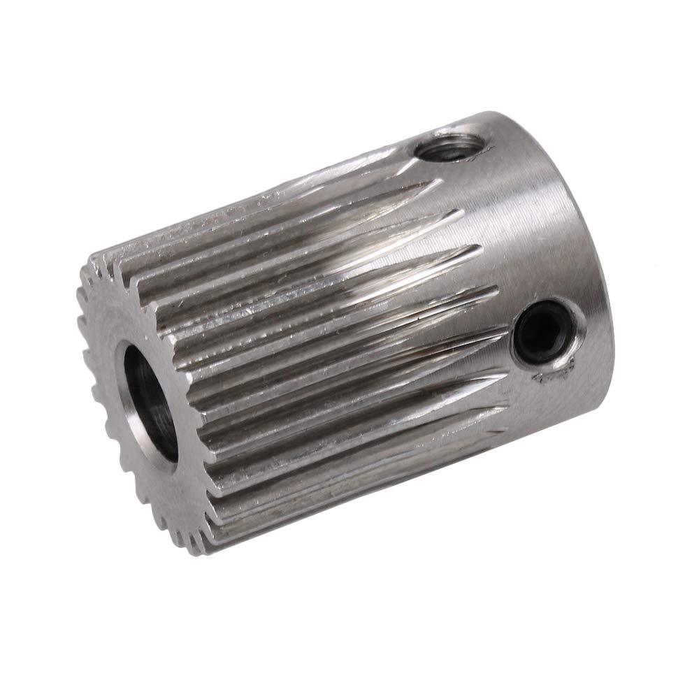 11 мм x 18 мм серебро 20 зубьев 0,5 формы из нержавеющей стали металлические моторные шестерни колеса 5 мм отверстие для DIY небольшой сверлильный ...