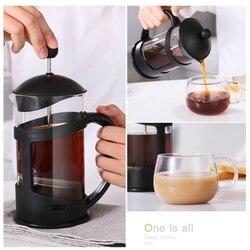 Calor-resistência à Pressão de Mão Garrafa de Café Fillter Fliter Copo Multi-funcional Prático Durável Potes de Leite Chá de Café 350 /600ml
