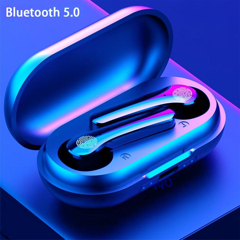 Y18 TWS Bluetooth 5.0 Earphones 9D Stereo Wireless Headphones Sports Waterproof Earbuds Headset with