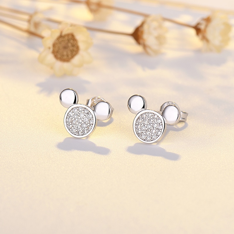 Disney moda mickey brincos clássico casual bonito personalidade dos desenhos animados orelha studs festa de casamento chrismas jóias presente para as mulheres
