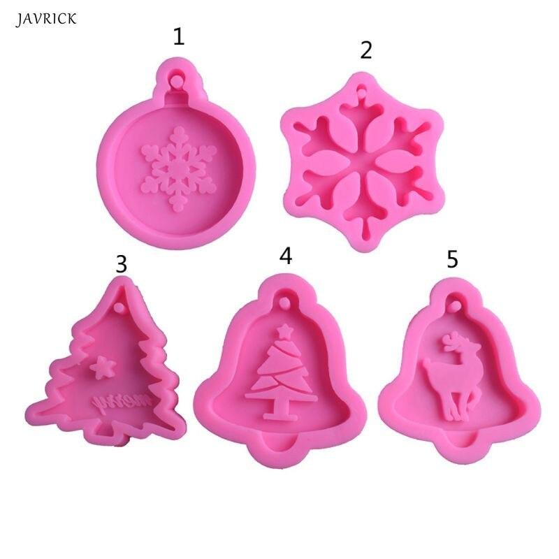 DIY, árbol de Navidad, copos de nieve, Molde de resina, fabricación de joyas, moldes de silicona, herramientas de arte, D0LC