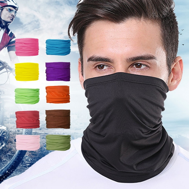 Pañuelo deportivo para exteriores 2020 para mujer y hombre, pañuelo para la cabeza de Color sólido, máscara facial para montar, pañuelo de ciclismo, banda para la cabeza