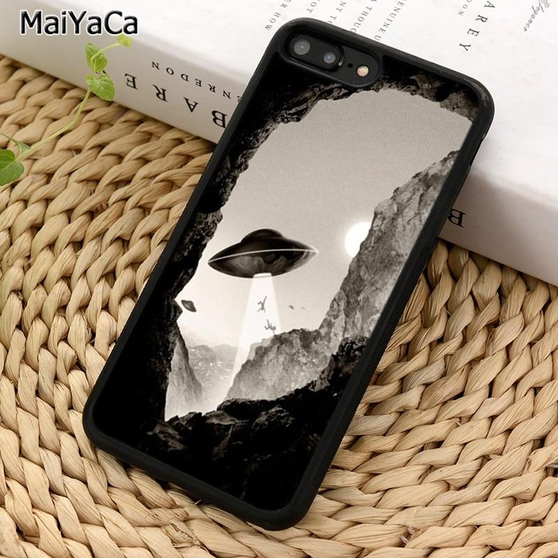 MaiYaCa alienígena Marciano OVNI abstracto arte teléfono caso para iPhone 5 5 S 6S 7 8 plus 11 Pro X XR XS Max Samsung Galaxy S7 S8 S9 S10