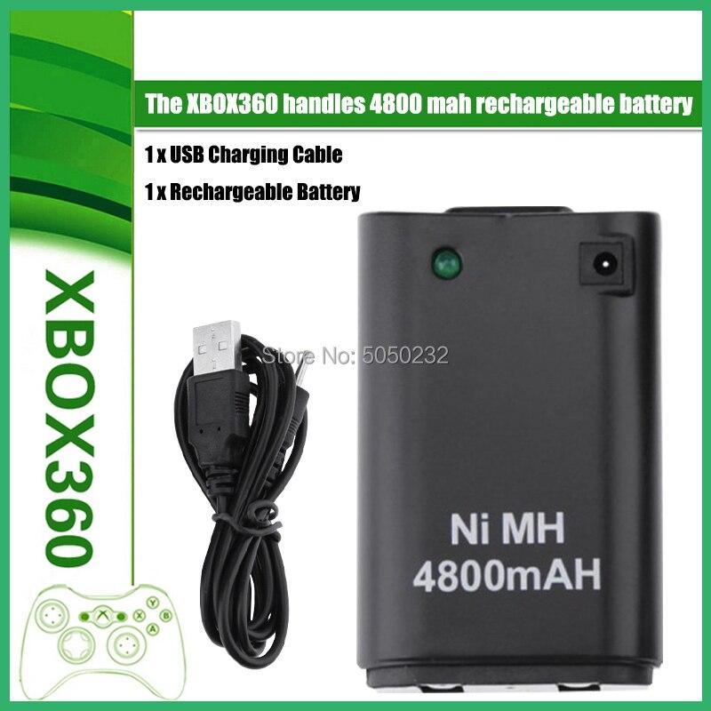4800mAh Pack de batería recargable + Cable de cargador USB para XBOX...