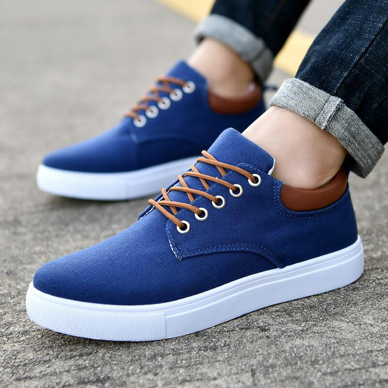 High Quality Men Canvas Shoes 2018 Fashion High Top Men's Casual Shoes Breathable Canvas Man Lace Up