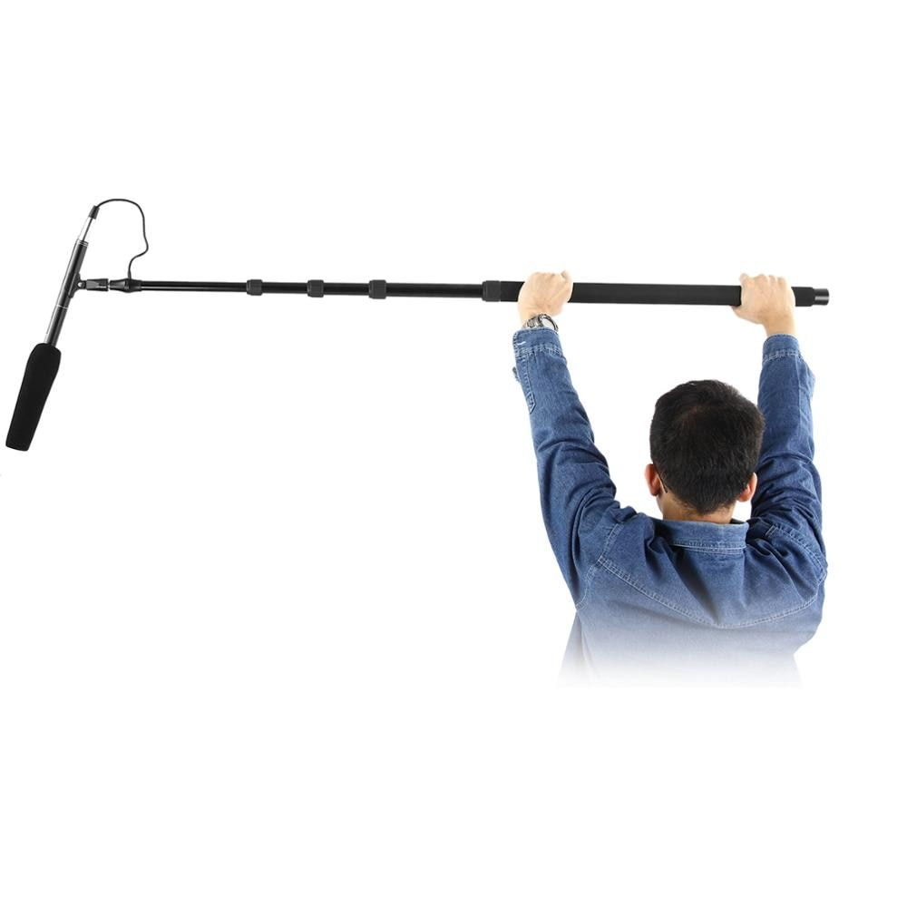 Neewer NW-088 Handheld Microphone Boom Arm with Built-in XLR Cable, 5-Section Extendable Aluminum Mic Arm with Foam Grips enlarge
