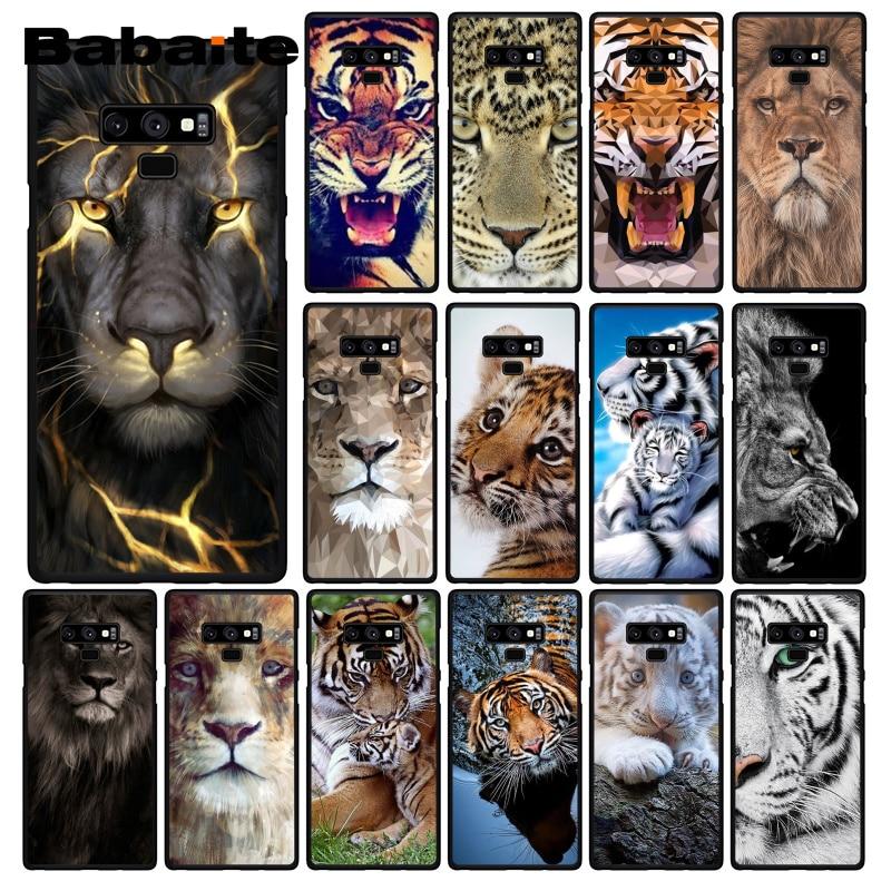 Babaite abstracto animal León Lobo Tigre Cub funda de teléfono para Samsung Galaxy A50 S10 Plus Note9 Note8 7 10 Pro
