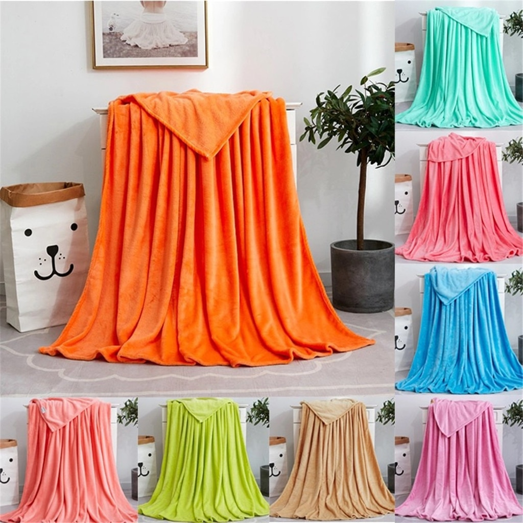 Manta suave de franela ligera delgada de lavado mecánico manta de franela super caliente suave mantas Tiro en sofá/cama/viaje textil para el hogar
