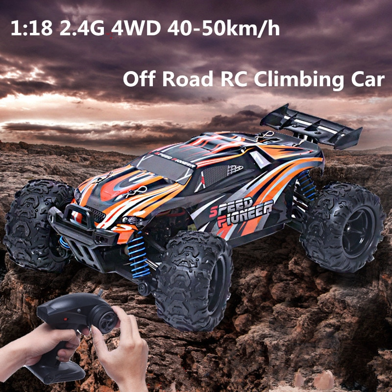 9302 1:18 2.4G 4WD 40-50km/h High Speed Off Road Climbing RC Car Shockproof-Oversized rubber 2color choose RC monster truck Toy