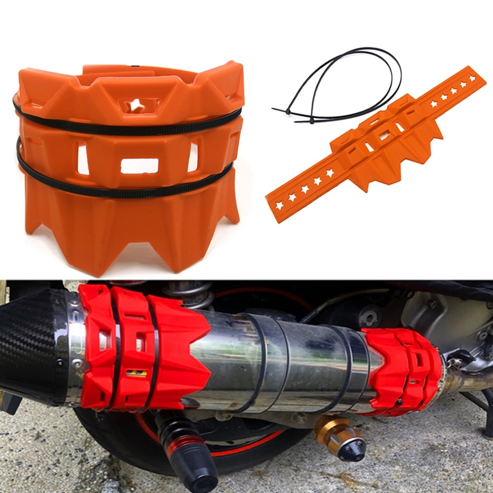 Protector del silenciador del escape de la motocicleta MX del estilo de Acerbis Universal para las piezas del Motocross de la bicicleta de la suciedad de CRF 230 KTM EXC