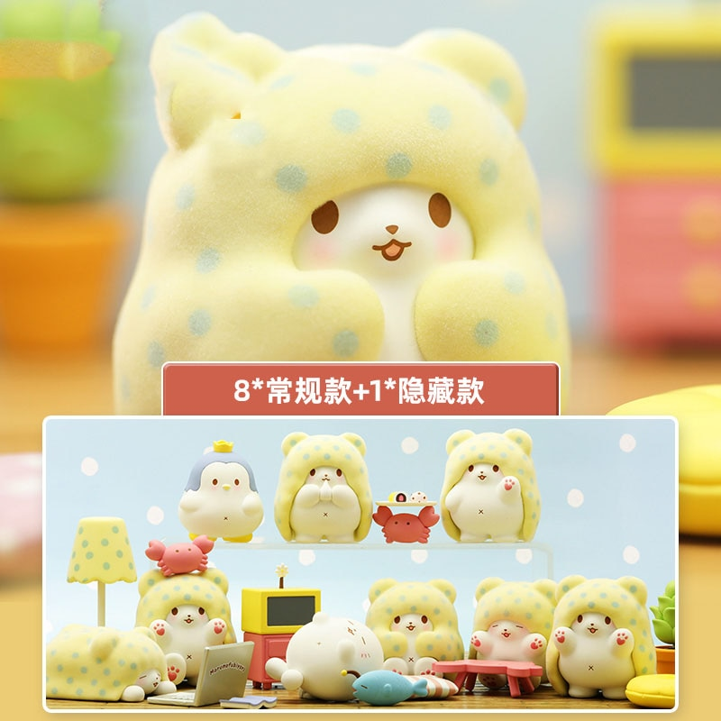 Birthday Gift 52TOYS Blanket Bear House Home Trendy Kid Doll Computer Desktop Decoration Kawaii Toy Blind Random Box