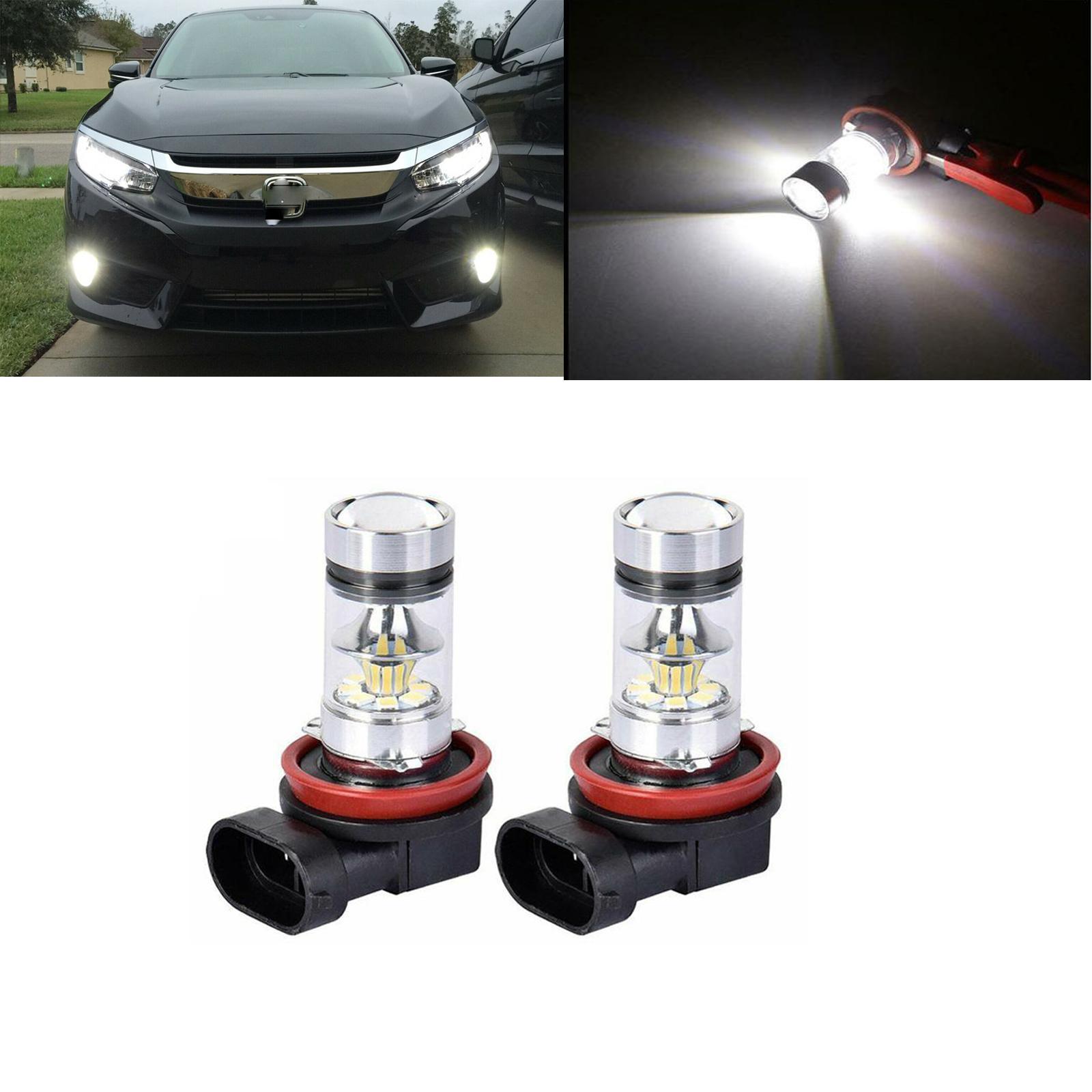 2X H8 H11 Nebel Licht Projektor Objektiv Weiß Led-lampen Für Honda Accord Civic 2006-2016 2017 2018 2019