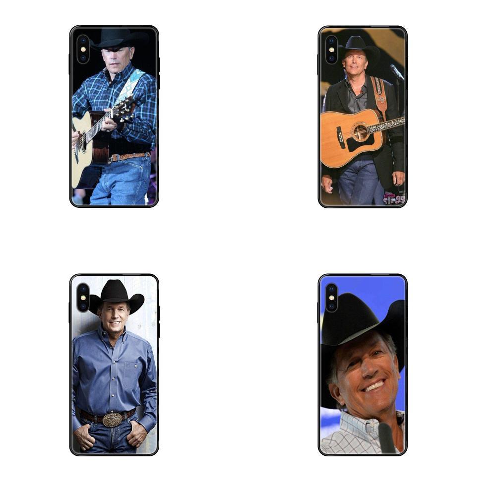 Soft TPU Black Mobile Shell For Galaxy S5 S6 S7 S8 S9 S10 S10e S20 edge Lite Plus Ultra George Harvey Strait American Music