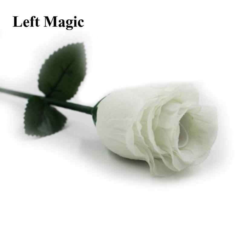 Los trucos de Magia white Fire Rose 2,0 una rosa desaparece a tres Magia escenario accesorios para trucos de ilusionismo mentalismo
