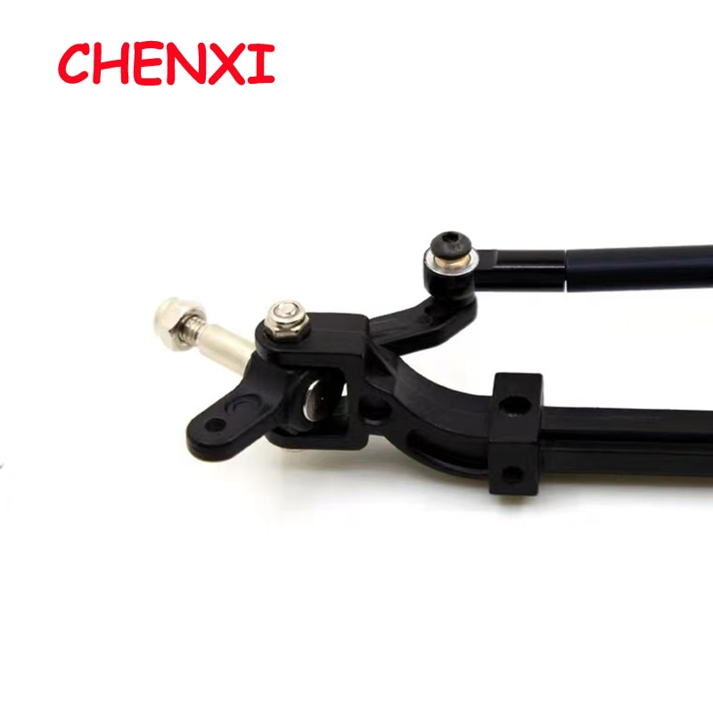 Unpowered Trailer Steering  Black/Silver Metal Front Axle Steering Rod Link Pole for 1/14 Tamiya RC Tractor Truck Accessories enlarge