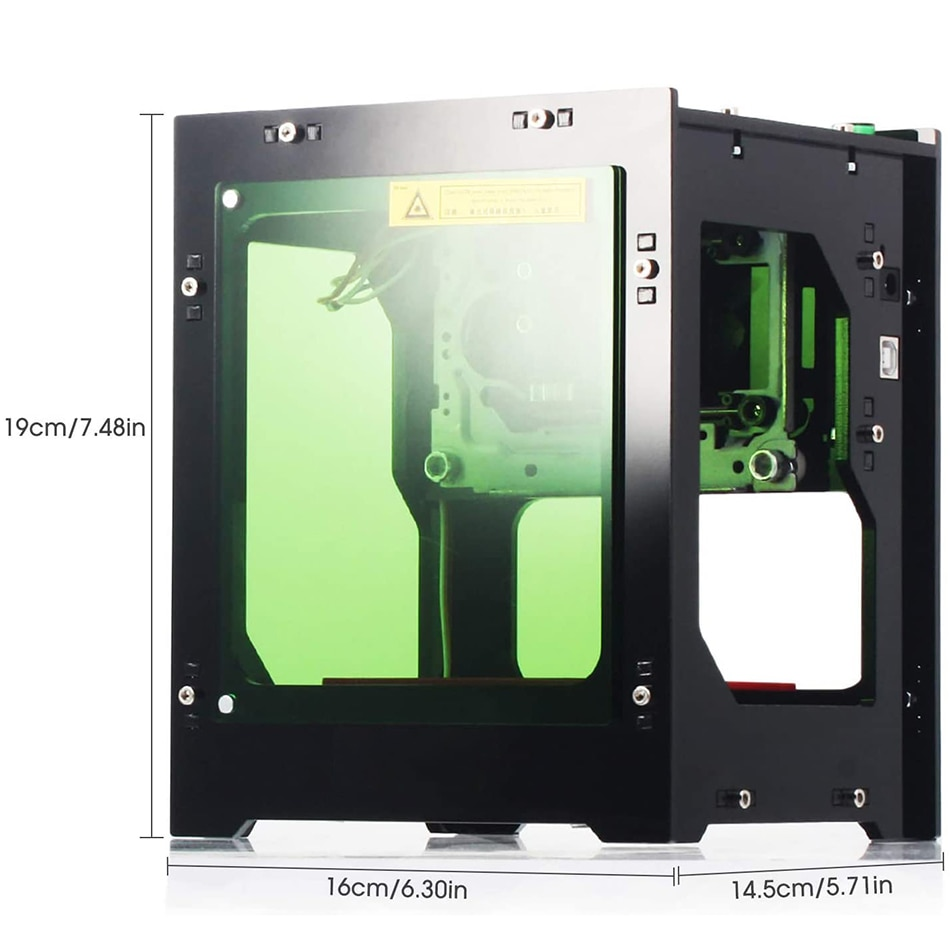 GanWei Upgraded High Power Laser Engraver 3000mW DIY Mini Laser Engraving Cutter for Hard Wood/Rubber/Leather/Cut Paper enlarge
