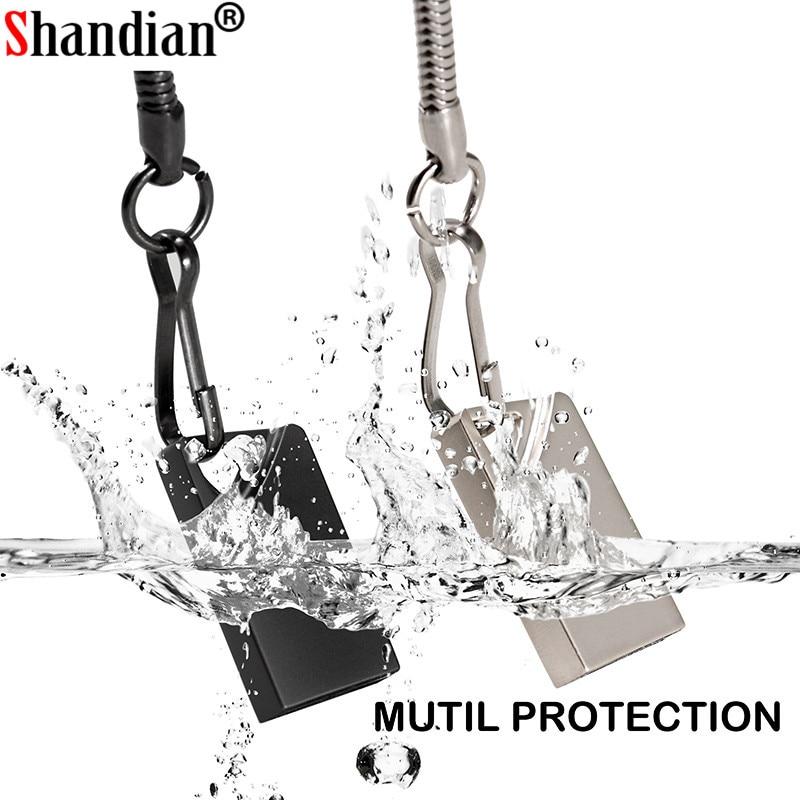 SHANDINAN-memoria Flash USB de 128gb mini usb, pendrive metálico con logo schijf,...