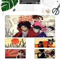 vip japan samurai champlo anime mouse pad laptop pc computer mause pad desk mat for big gaming mouse mat for overwatchcs go