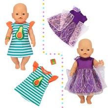 43cm new born Baby Lovely white collar clothes for baby doll clothes 18 Inch American OG girl Doll s