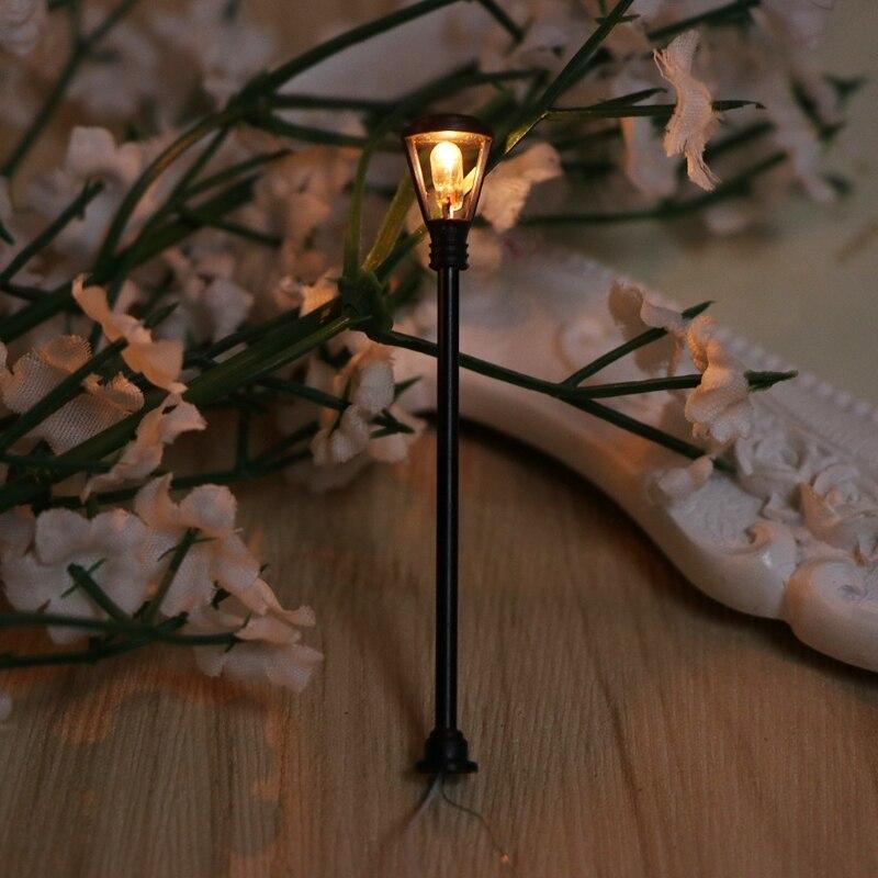 Novedad de 2020, lámpara de calle de paisaje en miniatura, luz de carretera, iluminación bonsái, adorno para decoración de jardín