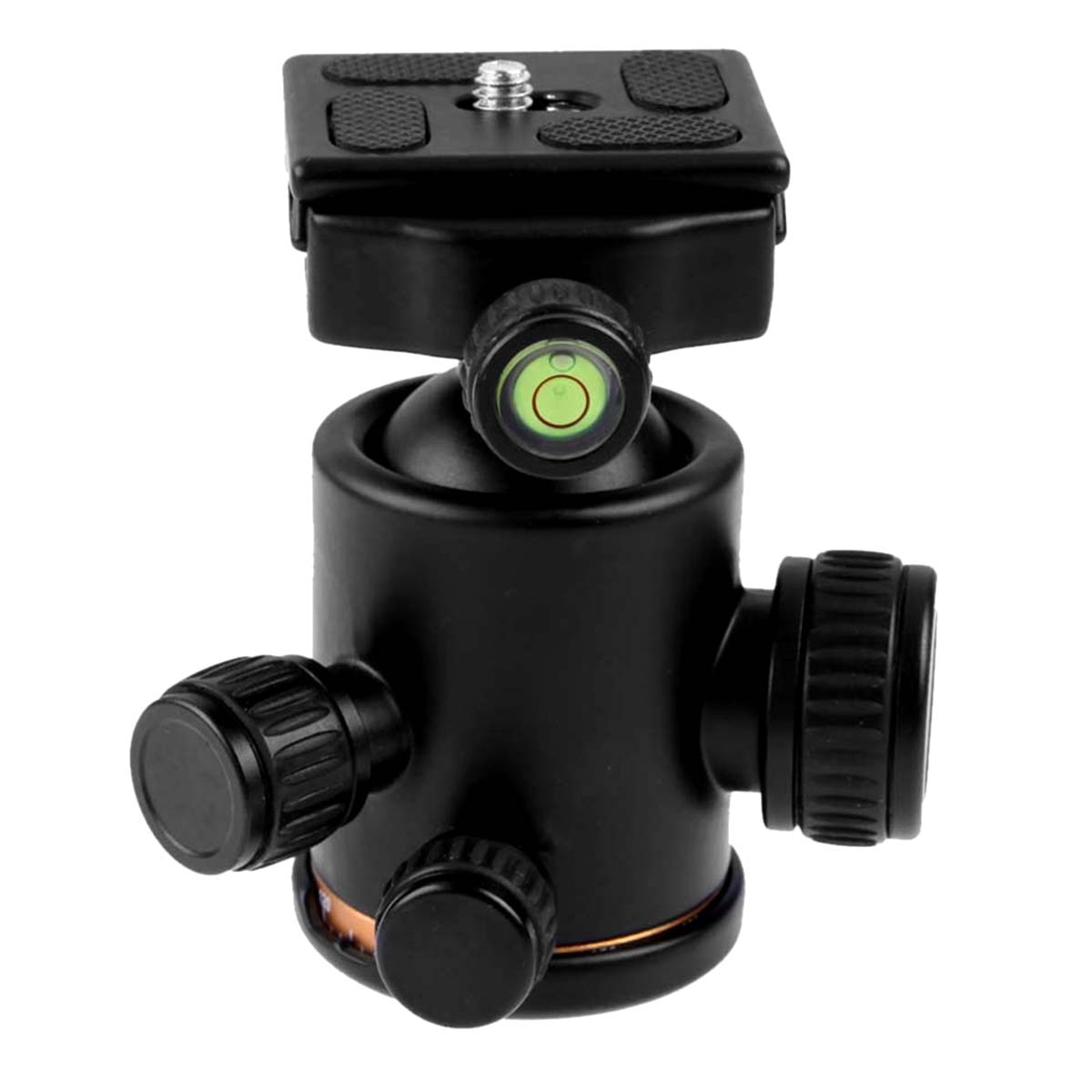 Cabezales de bola de trípode de cámara de rotación de fluido de cabeza de trípode con placa de liberación rápida para Canon MarkII III Rebel T6