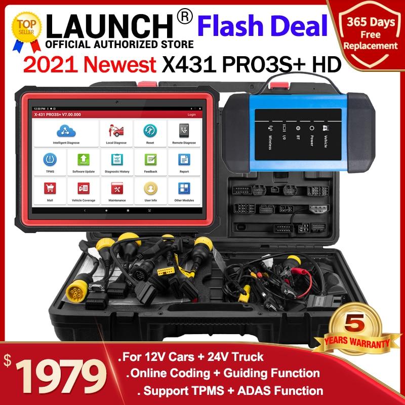 LAUNCH X431 PRO3S+ HDIII 12V/24V Car Truck diagnostic tool auto obd obd2 Code reader Full system diagonostic scanner X431 V PRO