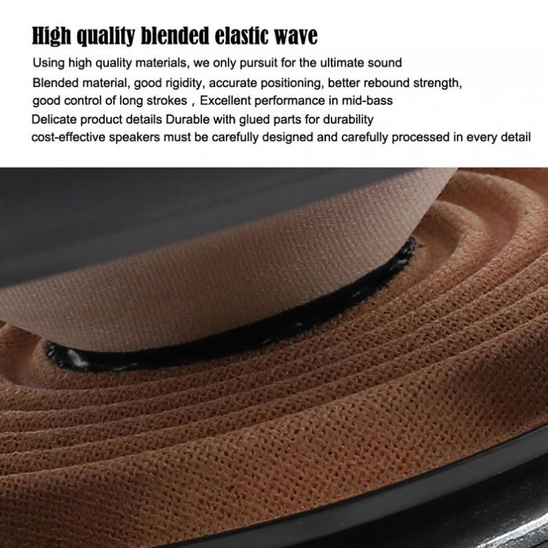 2pcs 4 Inch 40W  Full Range Frequency Car Audio Speaker Heavy Mid-bass Ultra-thin Modified Speaker  Non-destructive Installation