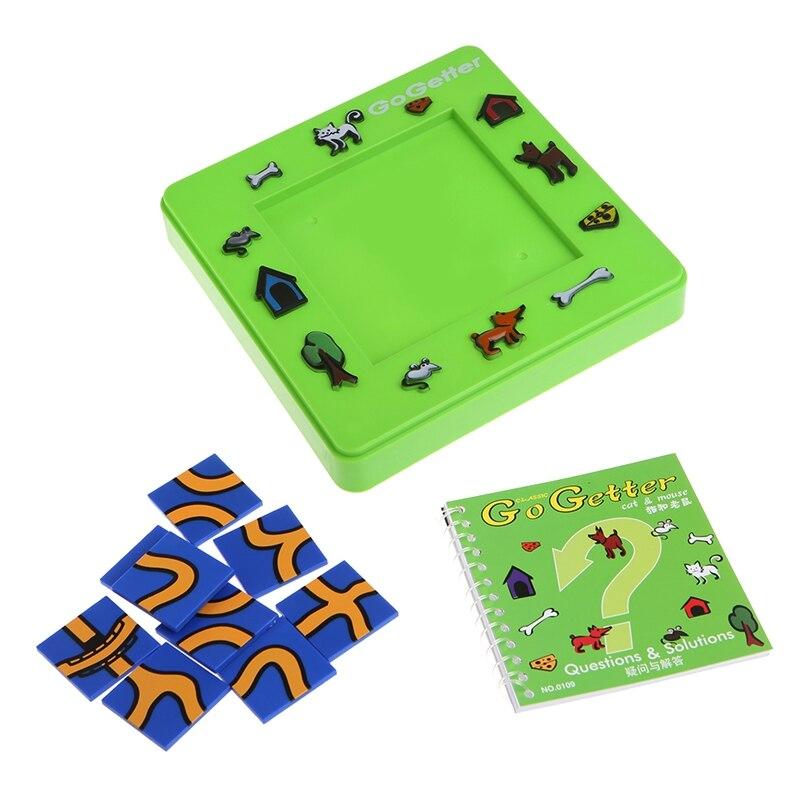 Go getter gato e mouse placa de brinquedo dos desenhos animados labirinto inteligência jogo presente e65d