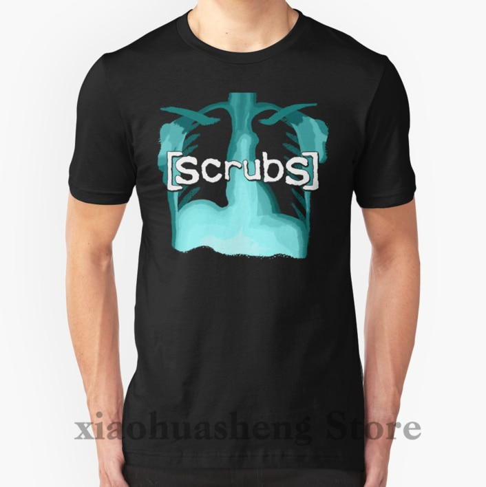 100% algodón cuello redondo hombres camiseta personalizada impresa camiseta Scrubs mujeres camiseta