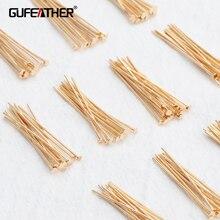 GUFEATHER M793, accesorios de joyería, aguja, chapado en oro de 18k, 0,3 micras, sin níquel, fabricación de joyas, accesorios de bricolaje, 20 g/lote