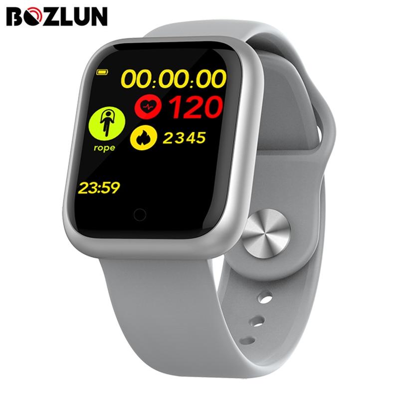 Reloj inteligente BOZLUN, pantalla táctil completa, Monitor de frecuencia cardíaca, presión arterial, múltiples modos deportivos, pulsera de seguimiento de Fitness para IOS y Android