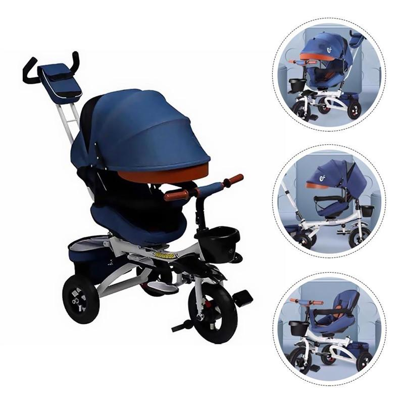 1Pc Folding Toddler Tricycle Durable Baby Stroller Practical Child Push Bike enlarge
