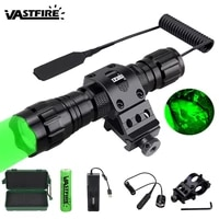 5000lm xm l q5 t6 led weapon gun light white tactical hunting flashlightrifle scope airsoft mountswitch18650usb chargercase