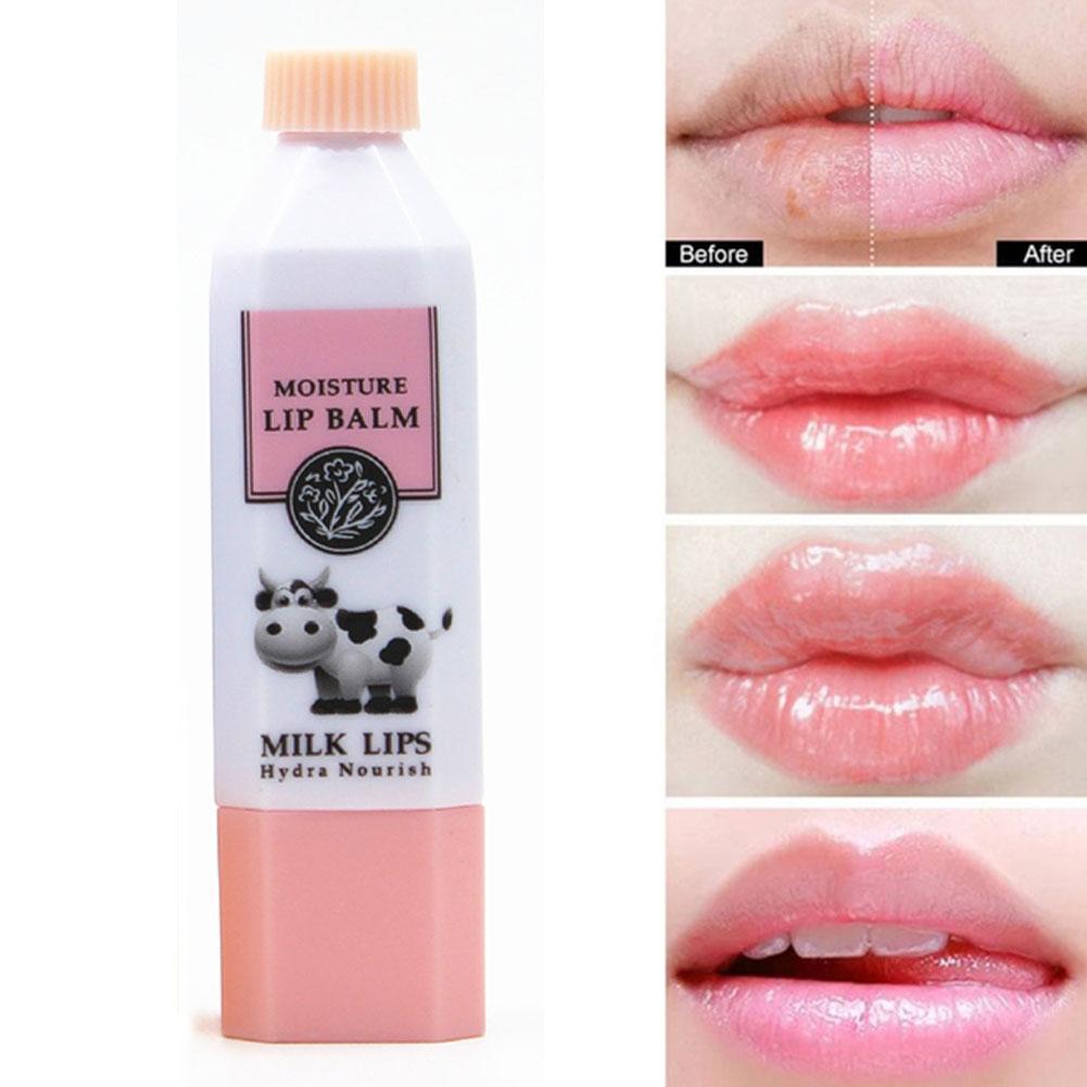 Milk Moisturizing Lip Balm Color Moisturizing Long-lasting Lip Fade Wrinkle Waterproof Lipstick V7W7 недорого