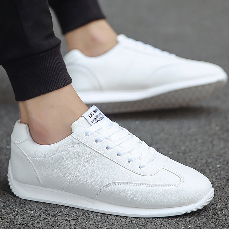 AliExpress - White Leather Sneakers Boys Sport Vulcanized Shoes Men Comforthable Spring Sneakers Mens Casual Shoes