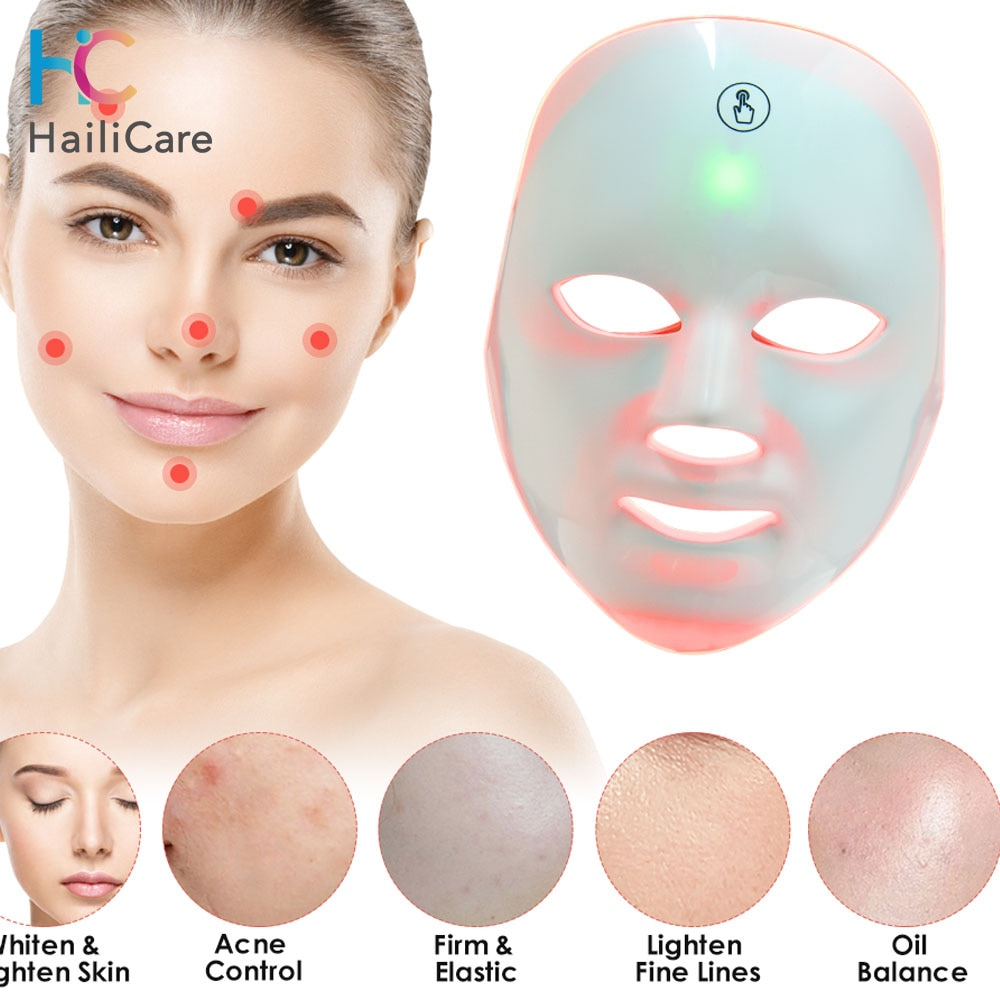 LED Light Therapy Face Mask 7Colors USB Photon Instrument Anti-aging Anti Acne Wrinkle Removal Skin Tighten Beatuy SPA Treatment