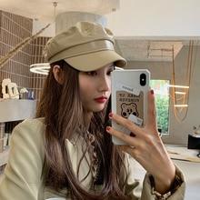 Beret Female Autumn and Winter Korean-style Fashion Brand All-Matching British Vintage Cricket-cap N