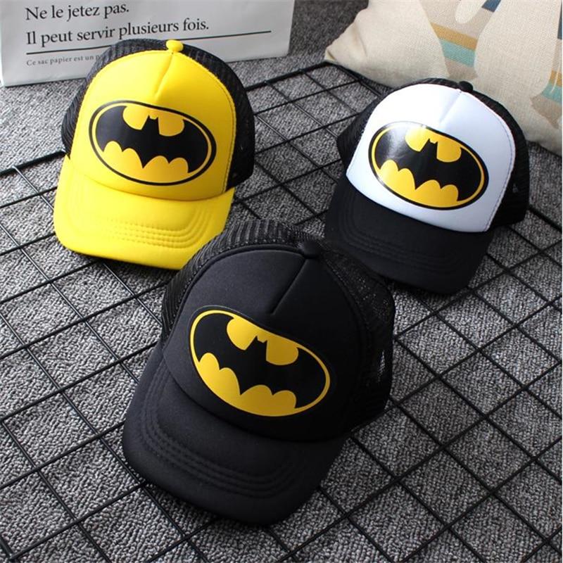 Детская бейсболка с изображением героев мультфильма «Бэтмен», модная сетчатая Кепка для мальчиков и девочек в стиле хип-хоп