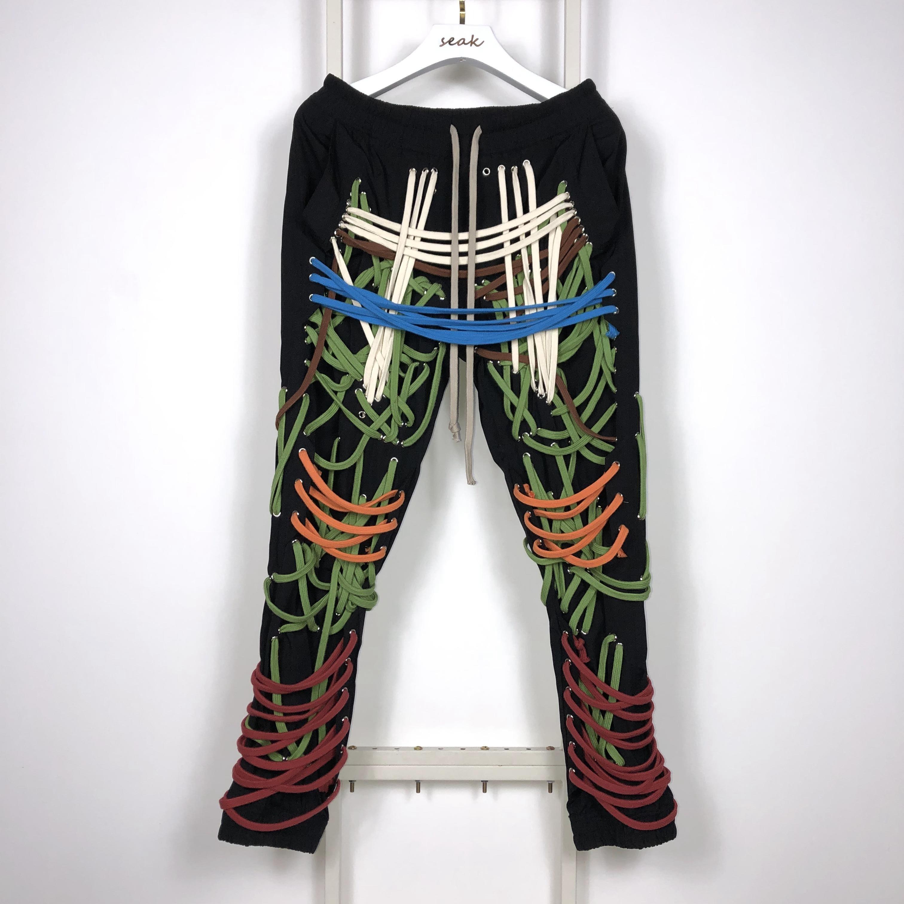 20SS Owen Seak Men Casual Pants Gothic Men's Harem Sweatpants Cargo Summer Cross Lightweight Women Solid Loose Black Pants