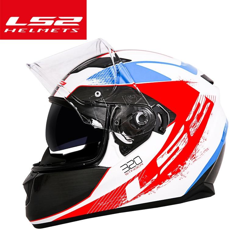 LS2 FF328 خوذة دراجة نارية كاملة الوجه للرجال والنساء ، خوذة دراجة نارية عالمية ، أربعة مواسم
