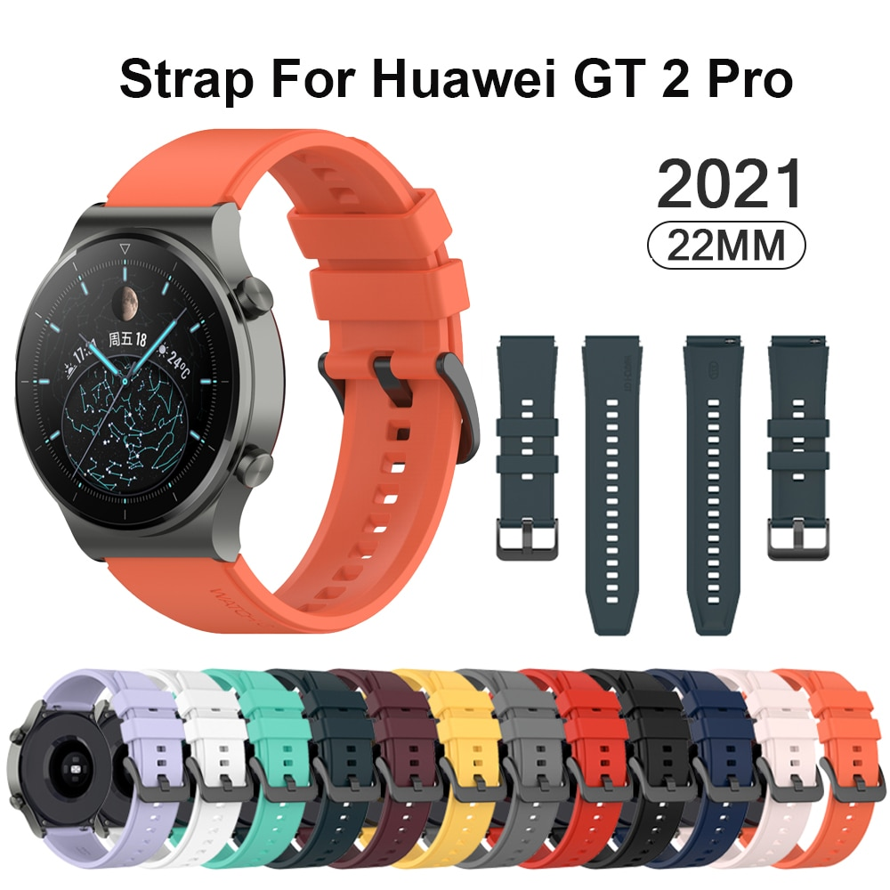 22mm Official Silicone Band For Huawei Watch Gt 2 Pro Sport Original Watchband For Huawei Gt2 Pro Wristband Replacement Bracelet