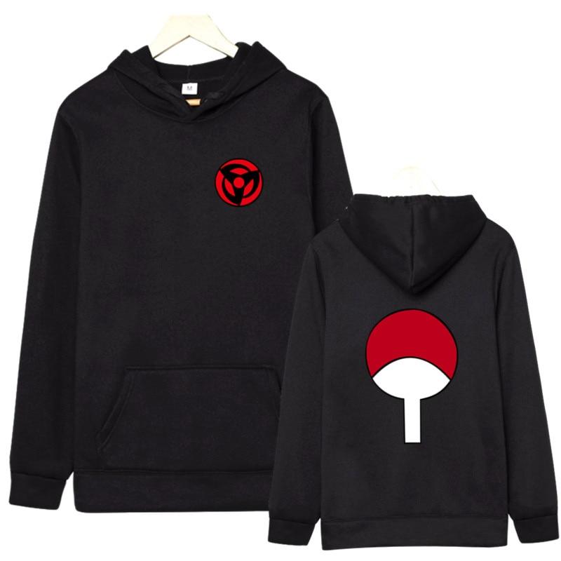 2019 mais recente naruto design moletons camisolas uchiha syaringan com capuz meninos moda hokage ninjia estilo masculino anime streetwear