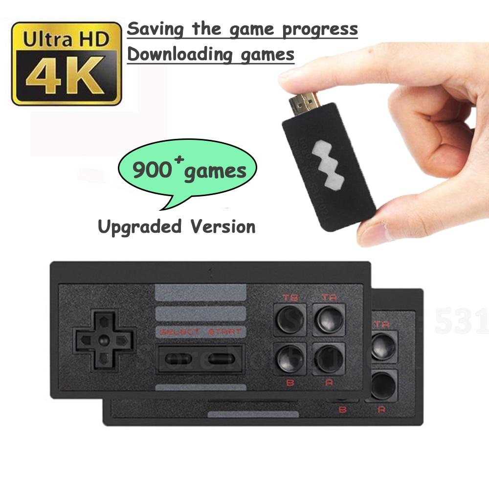 818 4K Игровая USB Беспроводная консоль, Классическая Игровая приставка, консоль для видеоигр, 8 бит, мини-флешка, двойной HD-плеер