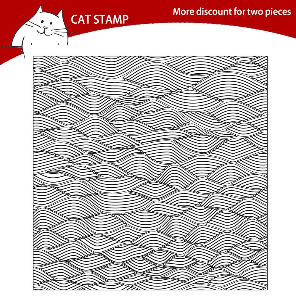 Fondo ondulado sellos transparentes claros para hacer tarjetas de recortes álbum de fotos sello de silicona manualidades decorativas DIY