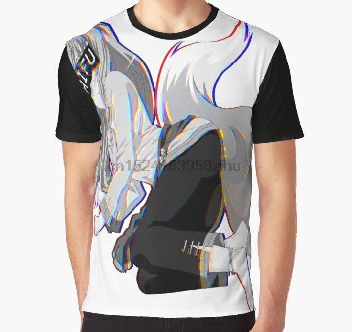 Todo impressão 3d tshirt men engraçado t camisa holo waifu adesivo