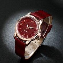 Relojes De moda para Mujer, reloj De cuarzo con esfera De doble círculo con espejo De esquina De piedra, reloj con correa De Cuero Luminoso, Relojes De Mujer