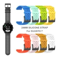 24mm silicone sport band for suunto 7 smart watch wrist strap watchband replaceable accessories