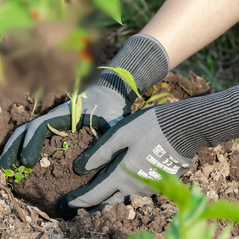 Sodo pirštinės, daržo nitrilo guminės pirštinės, lengvai kasti ir sodinti, sodo įrankiai