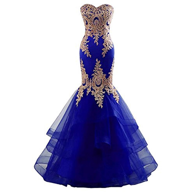 Hot Sale Strapless Cocktail Party Dresses Women Evening Elegant Lace Appliques Irregular Mermaid Prom Gown Formal Dress